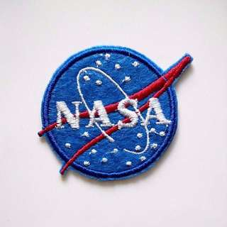 NASA Meatball Small Size Iron On Patch