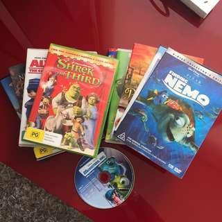 10 DVD's Children/Family Wntertainment