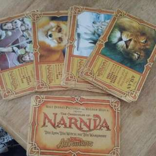 Disney Adventures Narnia ( The Lion, The Witch And The Wardrobe) Collectable Cards 1 - 26
