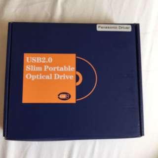 Panasonic Drive USB 2.0 Slim Portable Optical Drive