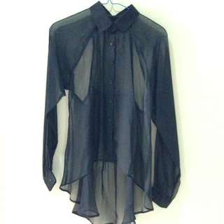 See Thru Blouse With Back Details