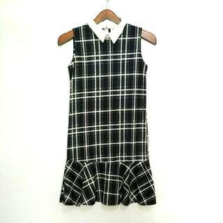 Navy Peplum Dress - Preloved