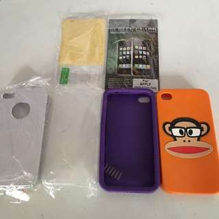 BUNDLE! Apple iPhone 4 Phone Cases X 4 Screen Protector Paul Frank