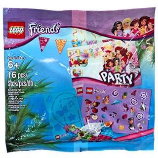 Brand New Auth Lego Friends Party Mini Set