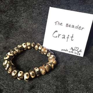 老料天珠手链 Dzi Bead Bracelet 12 * 7.5 mm Beads