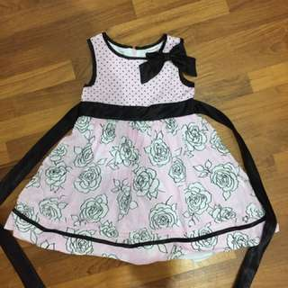 Little Girls Floral Party Dress