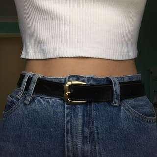 women's faux leather belt