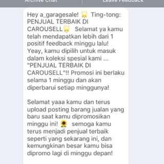 Alhamdulillah! Thank you Carousell