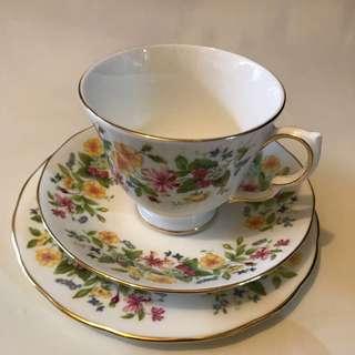 Vintage Colclough Bone China Trio Tea Cup - Made In England