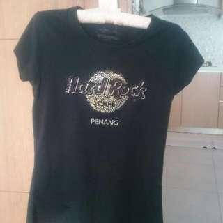 Authentic Hard Rock Black Glittery Rhinestones Shirt
