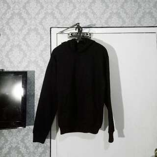 Simple Basic Black Hoodie