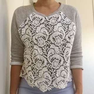 H&M Divided Lace Sweatshirt