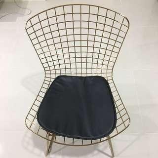 Swedish Designer Study / Dining/ Casual/ Chair With Black Padding