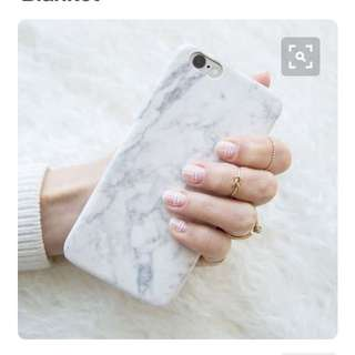 保護性強靚殻- Floral Print And Marble Print iPhone Case For iPhone 6plus