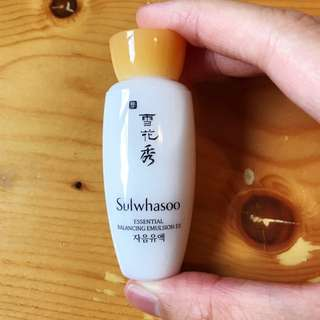 雪花秀滋陰乳液Sample 15ml Sulwhasoo Essential Balancing Emulsion Ex