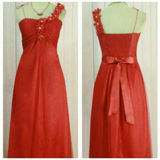 Party dress red (dress bridesmaid)