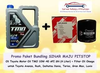 Paket Bundling Oli Mobil TMO 10W-40 & Filter Oli Avanza, Xenia, Rush