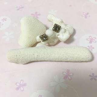 復古 水晶耳環