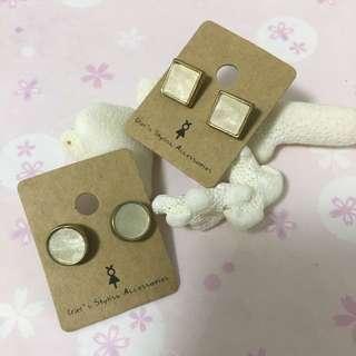 韓國 耳環- $15/對,$20/2對