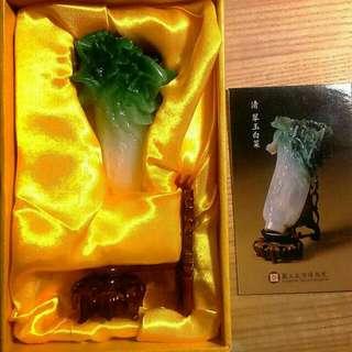 原價2800 故宮博物院紀念品  古董擺設品仿翠玉白菜#居家生活好物 母親節禮物 禮品 好禮