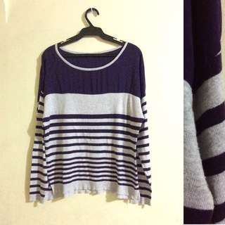 Striped Knitted Pullie