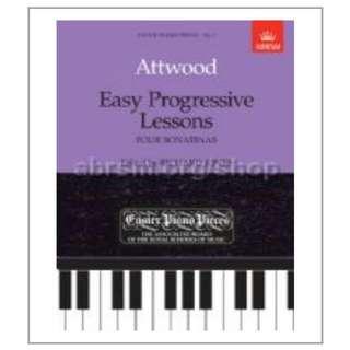 NEW Music Attwood Easy Progressive Lessons Piano