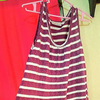 Purple Striped Dress