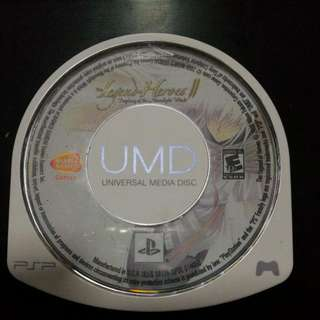 Psp Game - Legend Of Heroes II Prophecy Of The Moonlight Witch UMD