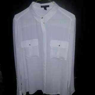 Mango White Button Up