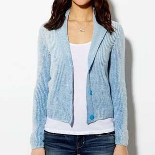 BRAND NEW $50 American Eagle Light Blue Knit Cardigan