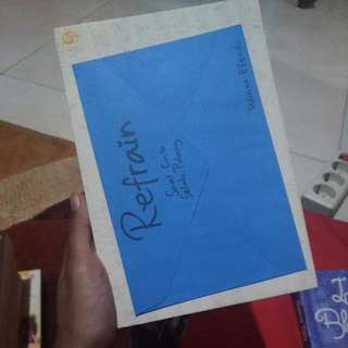 Novel Refrain - Winna Effendi