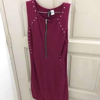 Brand New H&M Maroon Dress