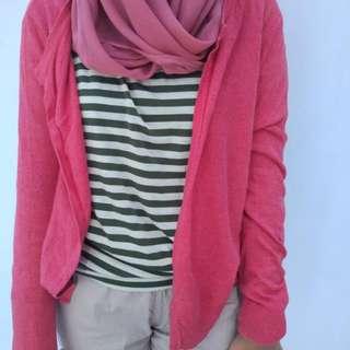 Buttonless Pink Cardi