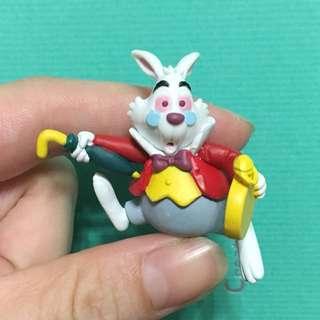 愛麗絲夢遊仙境 時間兔 公仔 杯緣