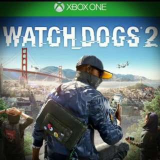 PRELOVED XBOX ONE WATCHDOGS 2 GAME