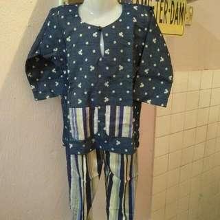 Baju Melayu Mickey 2-3years