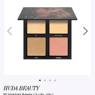 Huda Beauty-3D Highlight Pallette