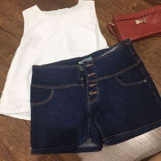Button Up Shorts