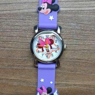 正版迪士尼 米妮 卡通錶