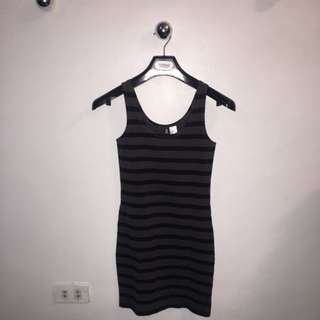H&M stripes fitted dress