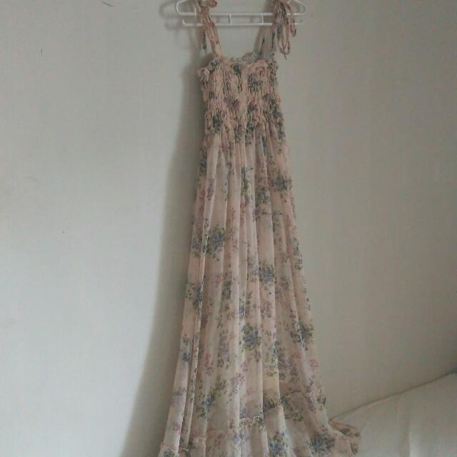 ✨【全新】雪紡度假風長版洋裝#二百元雪紡