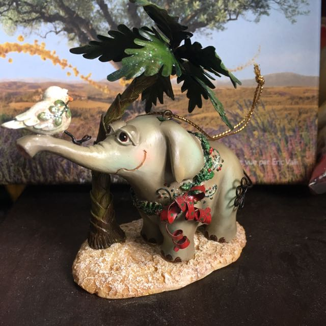 大象與小鳥聖誕樹掛飾