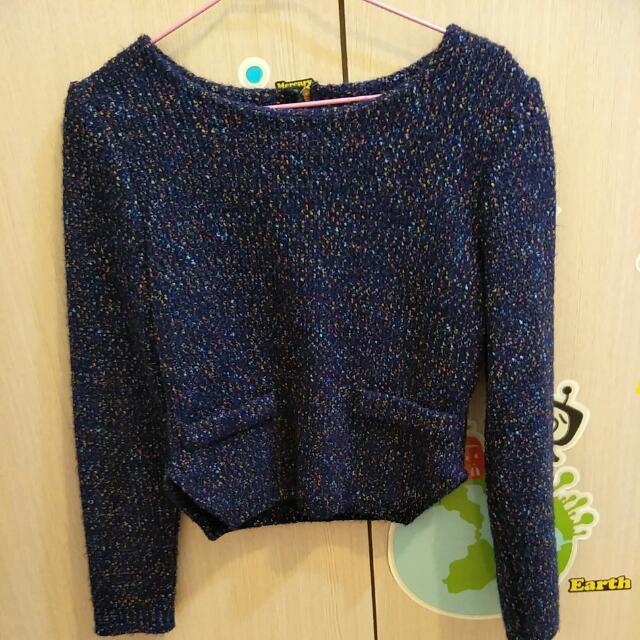 短版藍紫色上衣#我的旋轉衣櫃