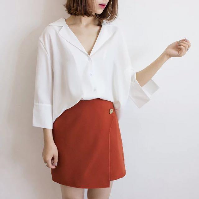 韓風顯瘦雪紡襯衫
