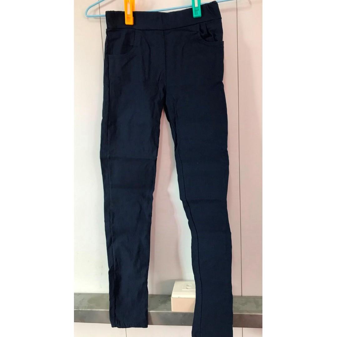 春夏深藍外穿打底褲長褲子女薄款彈力鉛筆小腳褲休閒九分褲