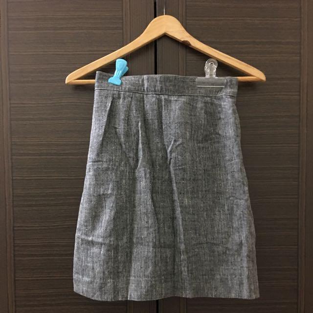 日本古著 高腰包臀裙