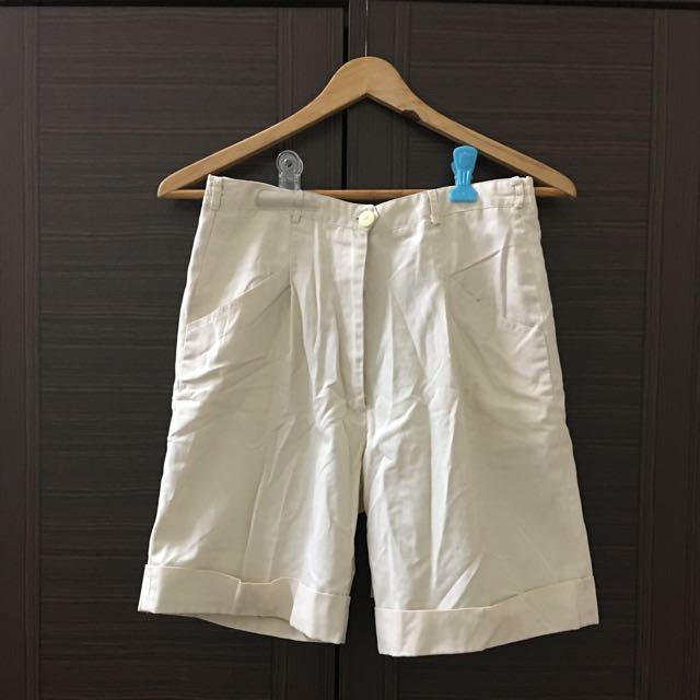 專櫃 絲質高腰短褲