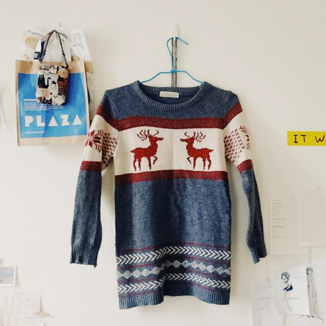 麋鹿 ❄ 灰色毛衣