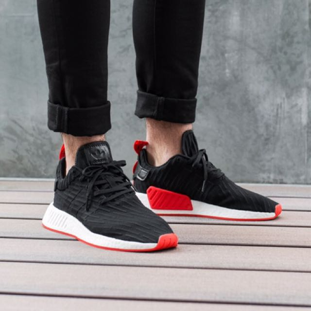 6585ca380 Adidas NMD R2 PK (Core Black Core Red)