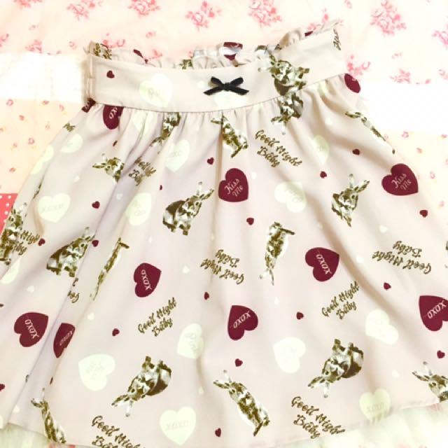 ANK ROUGE 兔兔裙子